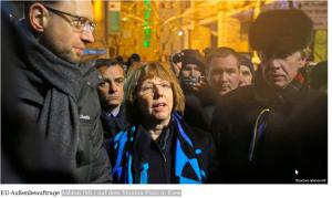 Ashton (Mi.) auf dem Maidan-Platz in Kiew_f