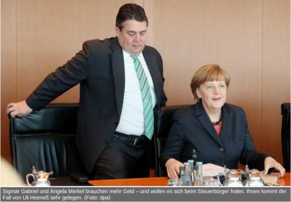 Sigmar Gabriel und Angela Merkel brauchen mehr Geld
